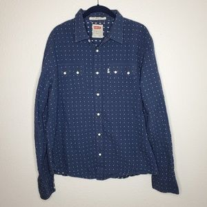 Levi's Snap Button Modern Fit Navy Top
